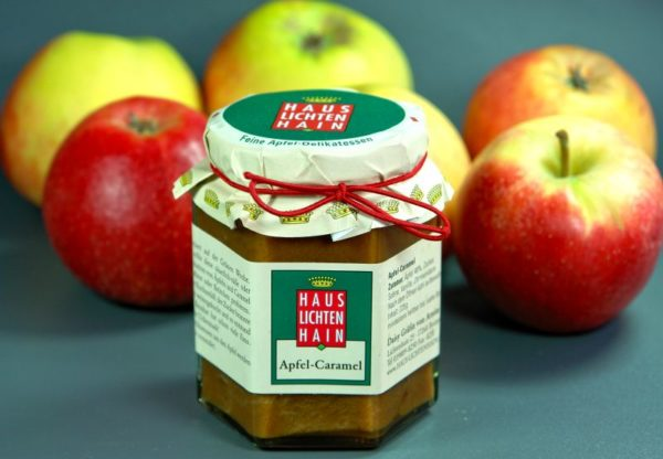 Apfel-Caramel-Fruchtaufstrich aus dem Hause Lichtenhain