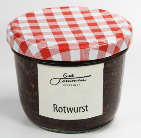Rotwurst vom Gut Temmen